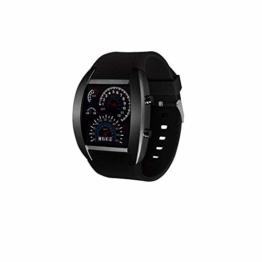 Sport-Uhr Unisex Multi Usage Instrumententafel Sport-Uhr-digital-elektronische Uhr Mit Lederarmband Fan Shaped Zifferblatt Uhr - 1