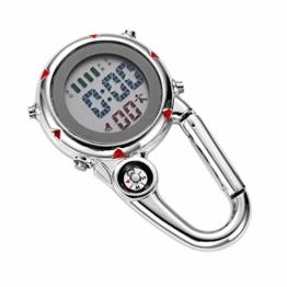 BESPORTBLE Clip auf Quarzuhr Karabineruhr Mini Pocket Fob Uhr für Klettern Outdoor-Aktivitäten (Rot) - 1