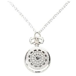 Taschenuhr - SODIAL(R) Mann Frauen Taschenuhr Quarz Silber Legierung haengende Halsketten Taschen-Dekor - 1