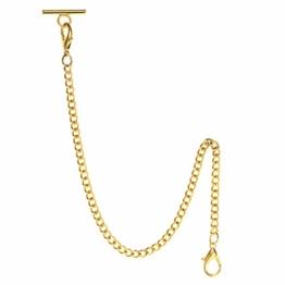 TREEWETO Taschenuhr Kette 14.7 inch (37.5 cm) Gold - 1