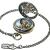 TREEWETO Unisex Taschenuhr mit Kette Analog Handaufzug Doppelscharnier Antik Drache Skelett Bronze - 4
